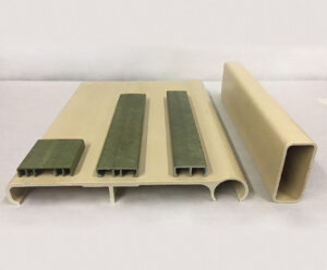 What is FRP and what makes Stephan's composite material so unique? Samples of SWP's composite material.